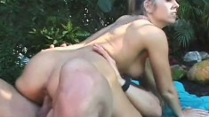 Blonde cheerleader gets her tight barely legal butt fucked hard