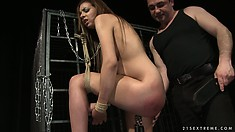 She's getting all kinds of things attached to her, including his cock
