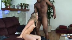Horny wife Amber Peach cheats with a big black dick and gets nailed