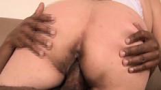 Fat white grandma gets split wide open by a massive black schlong