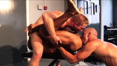 Sexy studs Carioca, Rocco Banks, and Freddy having a wild threesome