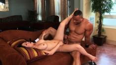 Kaiya Lynn works her hungry holes on every inch of a long black dick