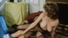 Busty milf Pam Jennings surrenders her hairy snatch to Craig Roberts