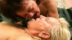 Matures Amanda and her friend double team Attila in a threesome