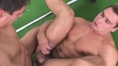 Muscled Jocks Mihaly Tombor And Tomas Dombai Take A Workout Break To Have Oral And Anal Sex