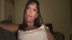 Sensuous Brunette Stripper With Big Hooters Reveals Her Oral Talents