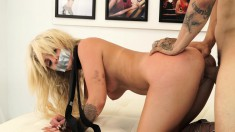 Blonde Madelyn Monroe Gets A Stiffy To Suck And Drill Her Fuck Hole