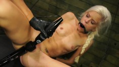 Skinny Blonde Nympho With Pigtails Halle Von Reveals Her Naughty Side