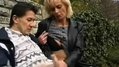 Reality European Amateur Sucks Cock For Cash Outdoors