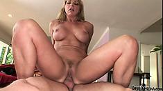 Pleasing slut is never alone because dicks always surround her cunt