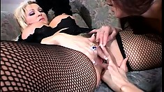 Naughty cougars get together on the couch and provide to each other intense pleasure