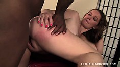 Cock-starved slut Emily gets her tight ass ready for some deep drilling