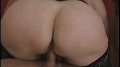 Chunky mature blonde has two young guys deeply banging her fiery cunt