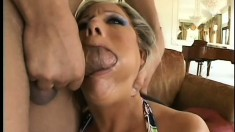 Desperate blonde slut wants her body to be ravaged by some man meat