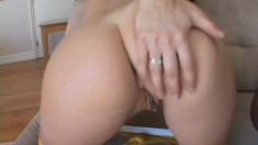 Desirable brunette with a fabulous ass Gia enjoys a huge black prick