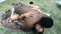 An ethnic chick gets her brains fucked out by a stiff black dick