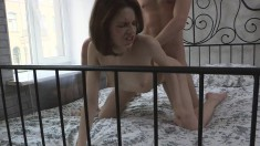 Hot eye-candy is desperate for her hung lover's enormous piston
