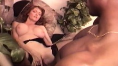 Stacked housewife Mary Jane indulges in wild sex with a hung black guy