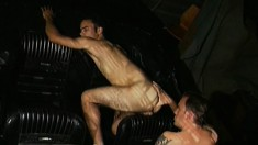 Hung gay stud delivers a wonderful blowjob and a rough anal pounding