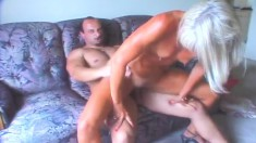 Tanned blonde cougar Ann is in need of a hard dick plowing her snatch