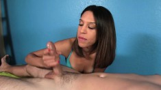 Elegant Masseur Sends Her Gifted Hands Working Their Magic On A Cock