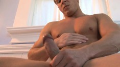 Uninhibited superstud wants to try stroking his monumental rod