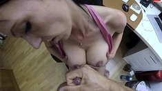 Teen Serves Hard Cock A Great Titjob On Pov Scene