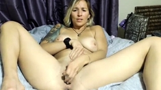 Amazing blonde german webcam milf high heel masturbation