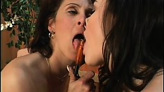 Sexed up muff with lovely body humps has her mound tongue-fucked