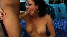 Busty milf Vanessa Videl is in need of a young stud's hard cock banging her cunt