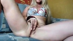 Sexy Russian MILF tease on webcam