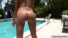 Roxy Love and Torrie showing off their hot round butts in and out